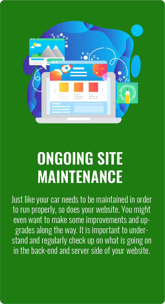 Ongoing Web Site Maintenance Services in Maryland Virginia and Washington DC