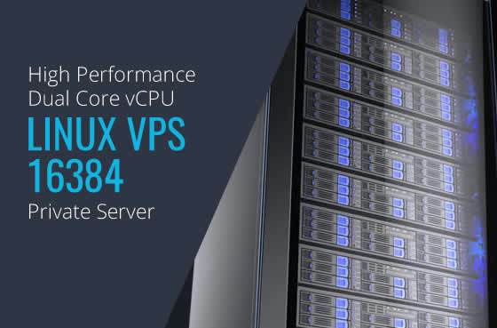 Linux VPS 16384 Dual Core High Performance Private Servers in Maryland Virginia Washington DC