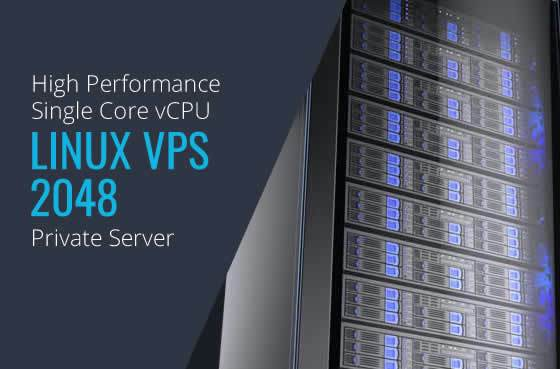 Linux VPS 2048 Single Core High Performance Private Servers in Maryland Virginia Washington DC