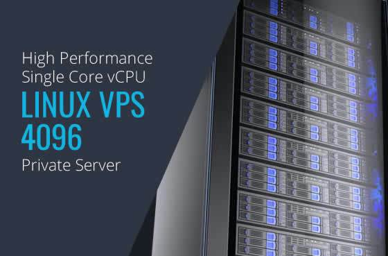 Linux VPS 4096 Single Core High Performance Private Servers in Maryland Virginia Washington DC