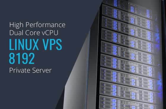 Linux VPS 8192 Dual Core High Performance Private Servers in Maryland Virginia Washington DC