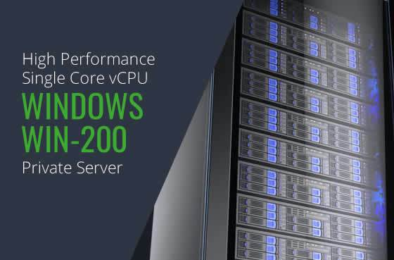 Windows WIN 200 Single Core High Performance Private Servers in Maryland Virginia Washington DC