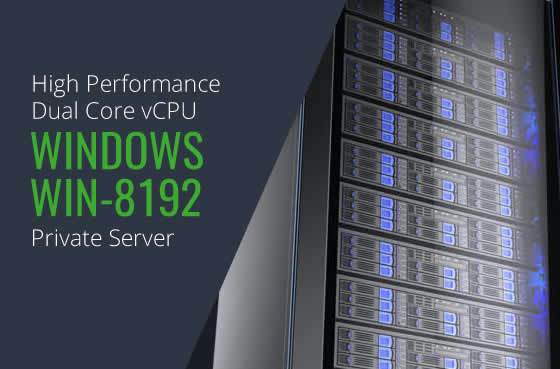Windows WIN 8192 Dual Core High Performance Private Servers in Maryland Virginia Washington DC